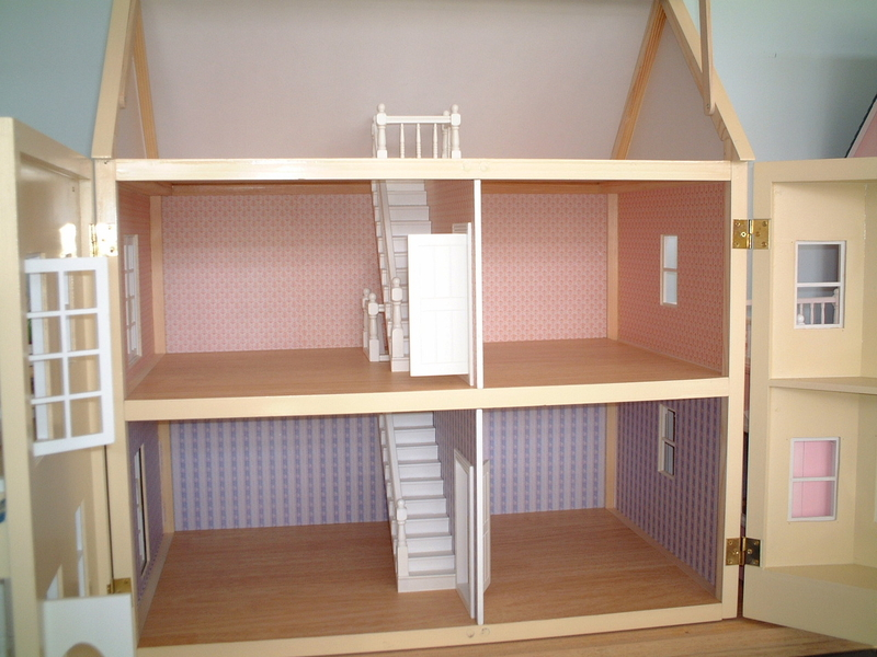 Diy american girl doll furniture - Yellow Victorian Dollhouse With Consevertory