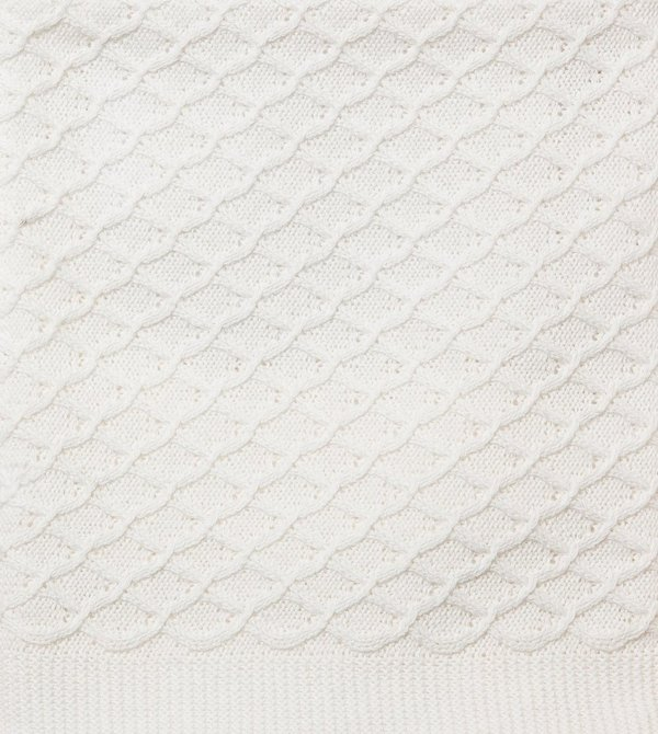 Cream Lace Knit Blanket