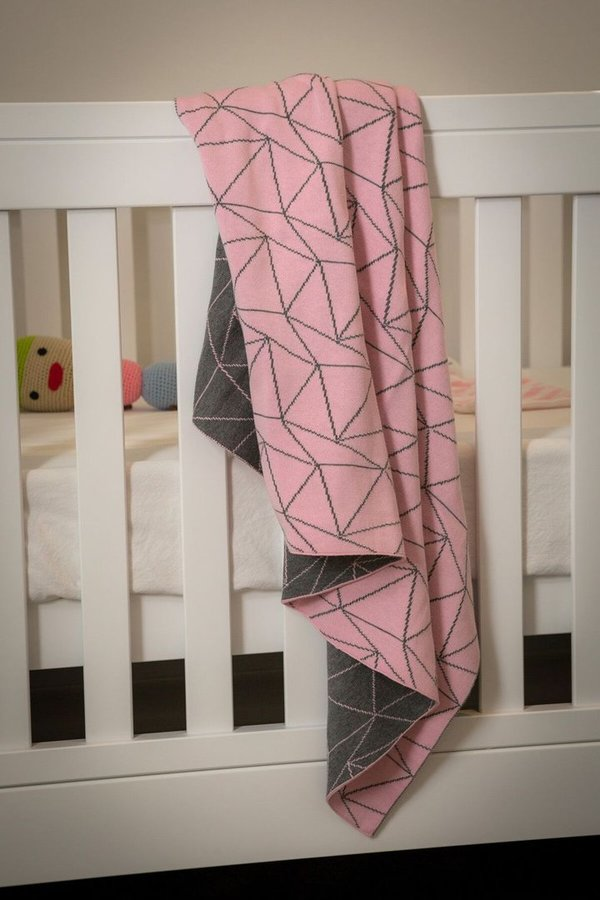 Pink & Grey Galaxy Blanket