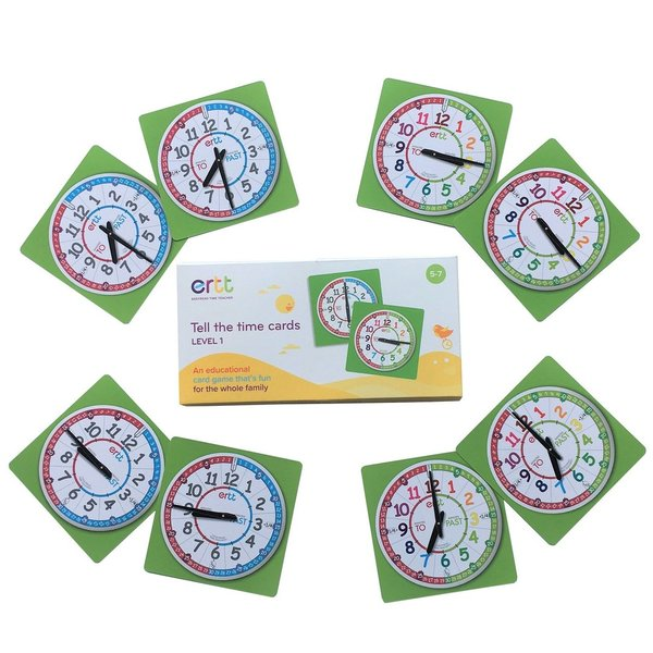 EasyRead  Tell the Time Card Games
